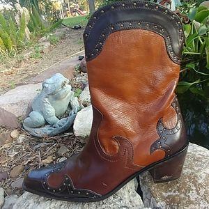 Stuart Weitzman western cowboy boots size 6 1/2